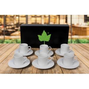 Porselen Sublımasyon Beyaz Kahve Fincanı  - 6'lı Köpük Kutuda