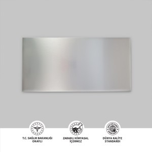 Fırçalı Gümüş Metal Plaka