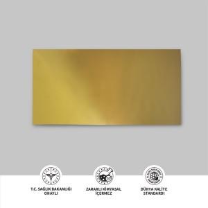 Aynalı Altın Metal Plaka